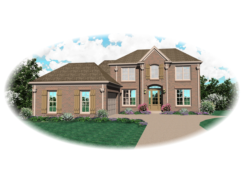 Colonial Floor Plan Front of Home - 087D-0564 | House Plans and More