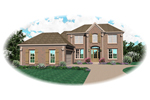 Country House Plan Front of Home - 087D-0564 | House Plans and More