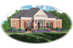 European House Plan Front of Home - 087D-0566 | House Plans and More
