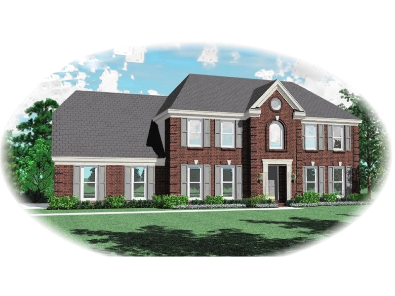 Georgian House Plan Front of Home - 087D-0568 | House Plans and More