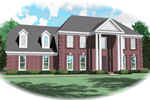 Greek Revival Home Plan Front of Home - 087D-0571 | House Plans and More