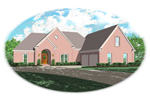 European House Plan Front of Home - 087D-0573 | House Plans and More