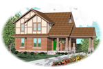 English Tudor House Plan Front of Home - 087D-0574 | House Plans and More