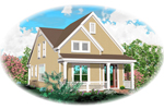 Waterfront Home Plan Front of Home - 087D-0576 | House Plans and More