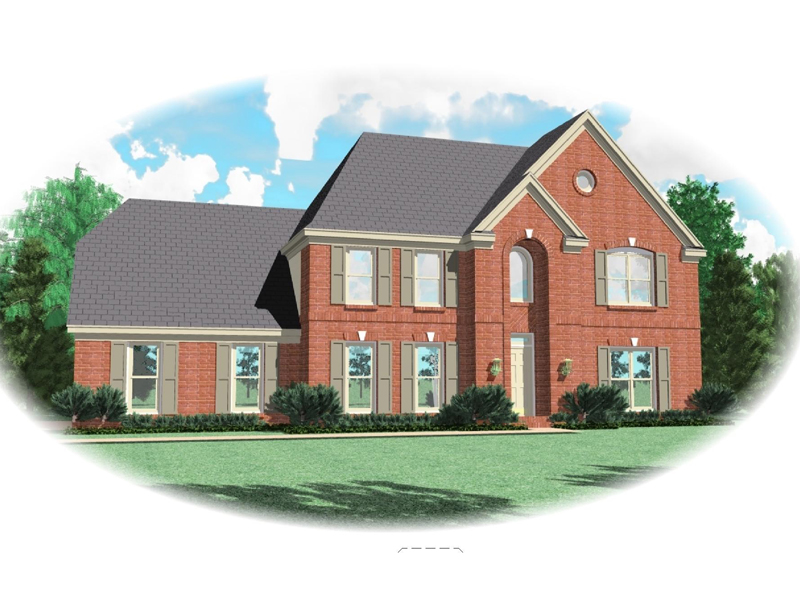 European House Plan Front of Home - 087D-0583 | House Plans and More