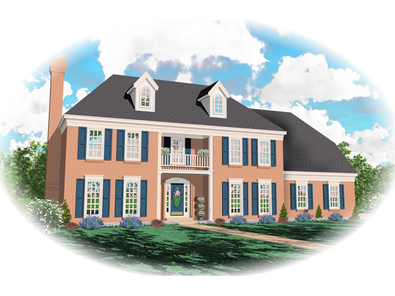 Plantation House Plan Front of Home - 087D-0585 | House Plans and More