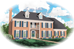 Georgian House Plan Front of Home - 087D-0585 | House Plans and More