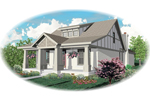 Acadian House Plan Front of Home - 087D-0587 | House Plans and More