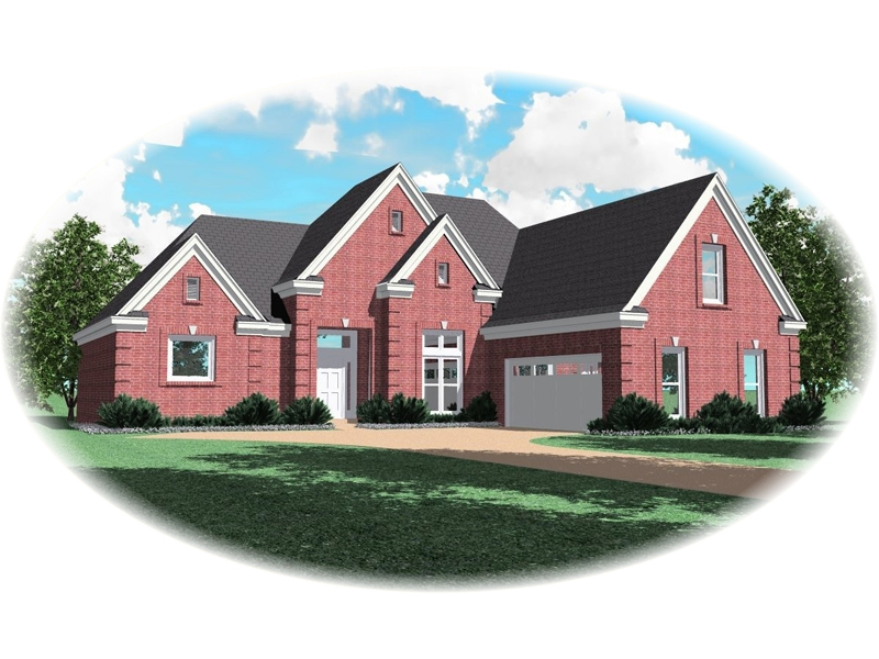 European House Plan Front of Home - 087D-0590 | House Plans and More