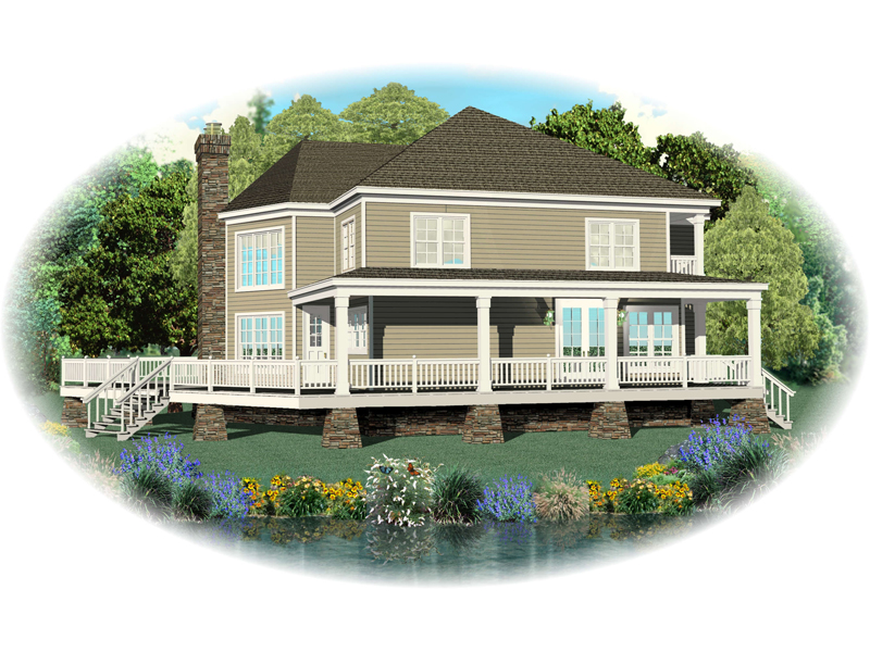 Beach & Coastal House Plan Front of Home - 087D-0596 | House Plans and More