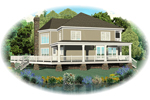 Lake House Plan Front of Home - 087D-0596 | House Plans and More