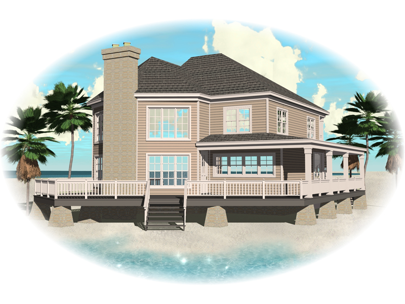 Waterfront House Plan Front of Home - 087D-0597 | House Plans and More