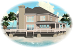 Waterfront Home Plan Front of Home - 087D-0597 | House Plans and More