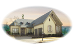 European House Plan Front of Home - 087D-0598 | House Plans and More