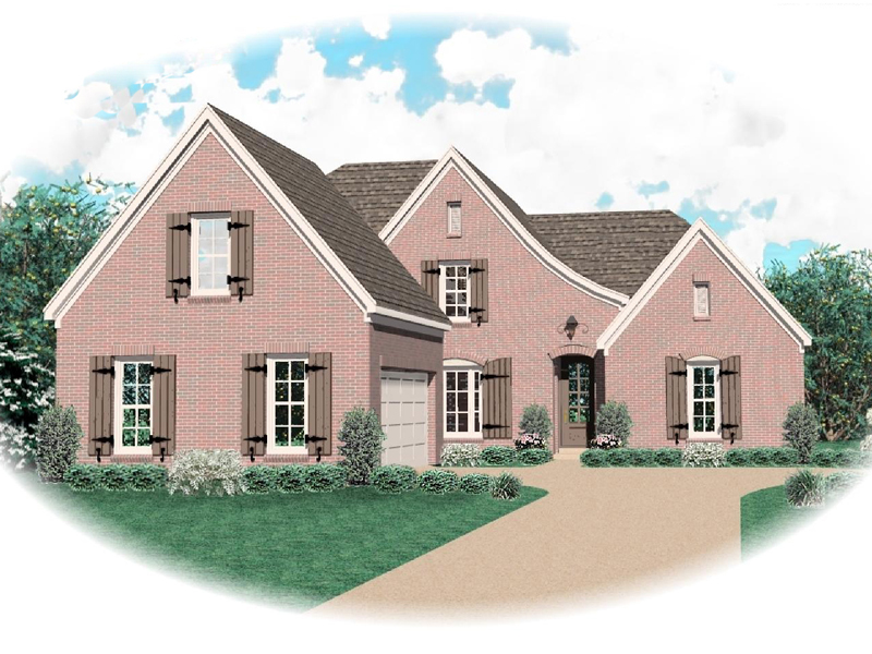 European House Plan Front of Home - 087D-0600 | House Plans and More