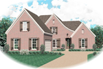 Country French Home Plan Front of Home - 087D-0600 | House Plans and More