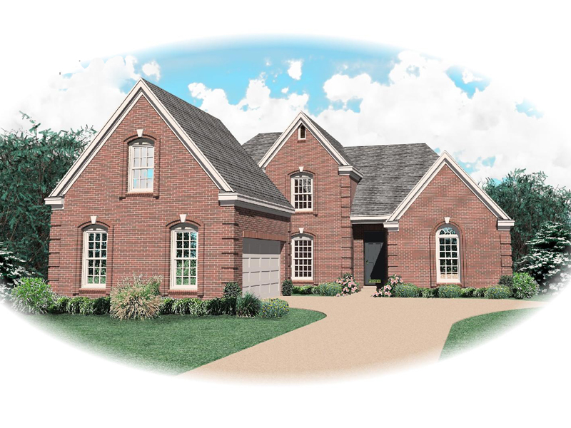 European House Plan Front of Home - 087D-0601 | House Plans and More