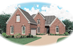 Traditional House Plan Front of Home - 087D-0601 | House Plans and More