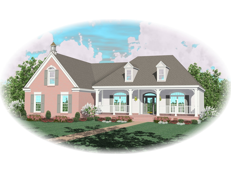 Colonial Floor Plan Front of Home - 087D-0603 | House Plans and More