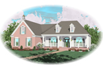Farmhouse Plan Front of Home - 087D-0603 | House Plans and More