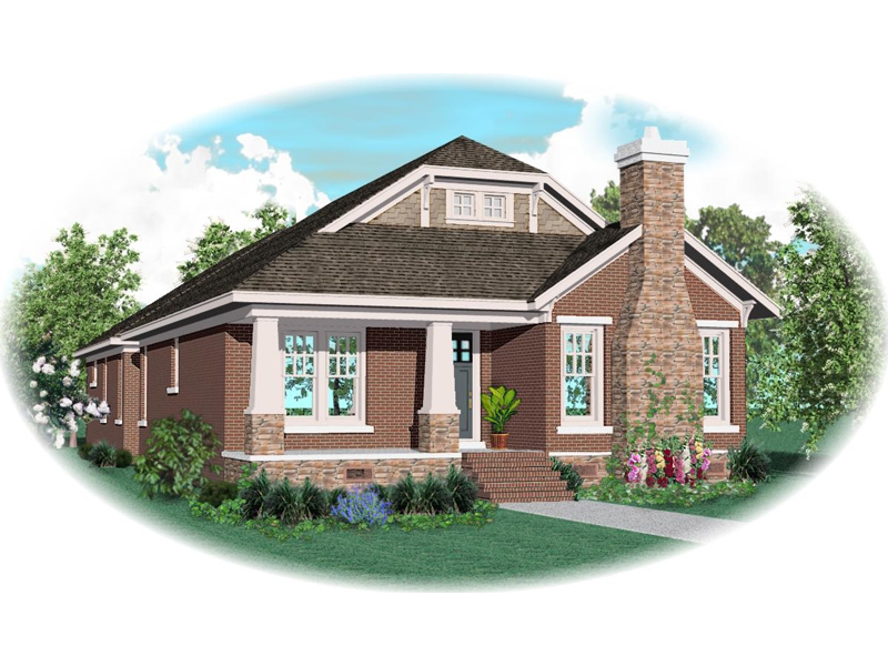 Arts and Crafts House Plan Front of Home - 087D-0605 | House Plans and More