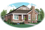 Craftsman House Plan Front of Home - 087D-0605 | House Plans and More