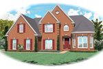 Country French Home Plan Front of Home - 087D-0607 | House Plans and More