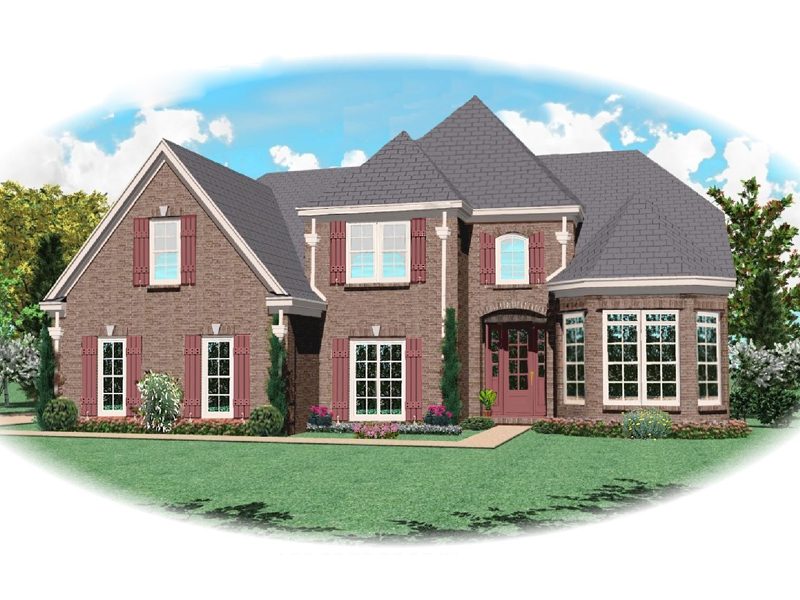 Colonial House Plan Front of Home - 087D-0608 | House Plans and More