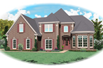 Country French Home Plan Front of Home - 087D-0608 | House Plans and More