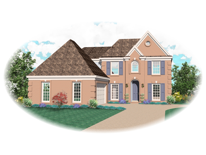 Colonial House Plan Front of Home - 087D-0610 | House Plans and More