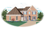 Colonial Floor Plan Front of Home - 087D-0610 | House Plans and More