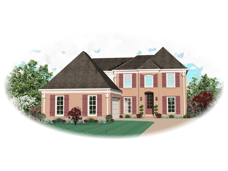 Colonial Floor Plan Front of Home - 087D-0611 | House Plans and More