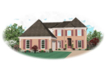 Colonial House Plan Front of Home - 087D-0611 | House Plans and More