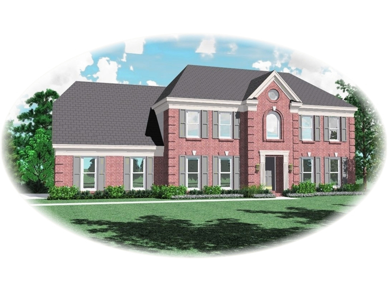 Georgian House Plan Front of Home - 087D-0615 | House Plans and More
