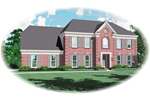 Colonial Floor Plan Front of Home - 087D-0615 | House Plans and More