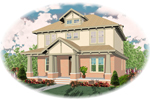 Arts and Crafts House Plan Front of Home - 087D-0616 | House Plans and More