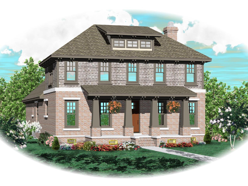 Arts and Crafts House Plan Front of Home - 087D-0618 | House Plans and More
