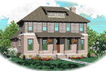 Craftsman House Plan Front of Home - 087D-0618 | House Plans and More