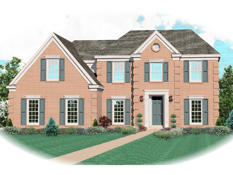 Colonial Floor Plan Front of Home - 087D-0627 | House Plans and More