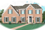 Georgian House Plan Front of Home - 087D-0627 | House Plans and More