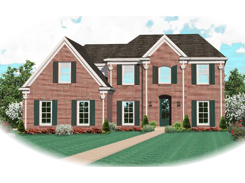 European House Plan Front of Home - 087D-0628 | House Plans and More