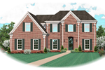 Georgian House Plan Front of Home - 087D-0628 | House Plans and More