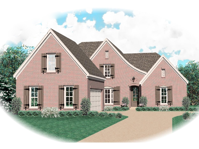 European House Plan Front of Home - 087D-0629 | House Plans and More