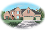 Colonial Floor Plan Front of Home - 087D-0633 | House Plans and More