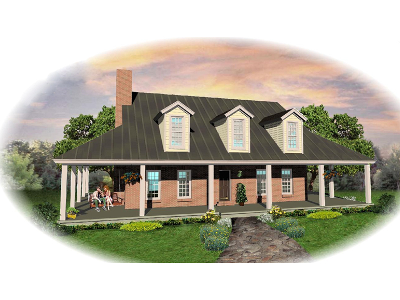Farmhouse Plan Front of Home - 087D-0635 | House Plans and More