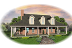Waterfront Home Plan Front of Home - 087D-0635 | House Plans and More