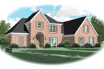 Country French Home Plan Front of Home - 087D-0638 | House Plans and More