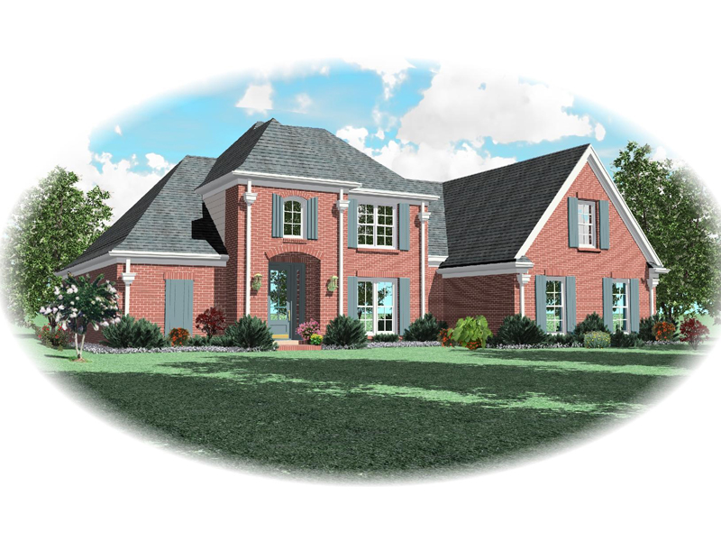 Country French Home Plan Front of Home - 087D-0639 | House Plans and More