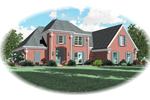 Country French House Plan Front of Home - 087D-0639 | House Plans and More