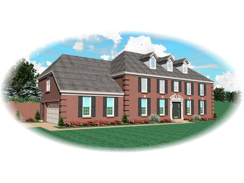 Early American House Plan Front of Home - 087D-0641 | House Plans and More